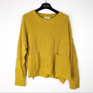 Madewell J8782 Mustard Pocket Pullover Sweater